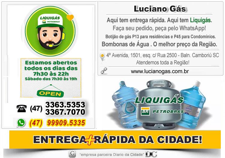 Entrega gás Bairro da Barra Balneário Camboriú